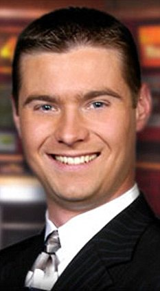 In a storm: KARK-TV weatherman Brett Cummins awakened in a dry hot tub next to the body of his friend