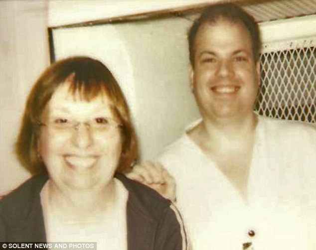 Death row: Maggie Allder pictured with Karl Chamberlain, who was convicted of rape and murder and she was there to see him executed in 2008