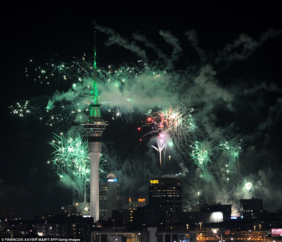 Lighting up the sky: More of the reported three tonnes of spectacular fireworks help get the tournament off to an explosive start