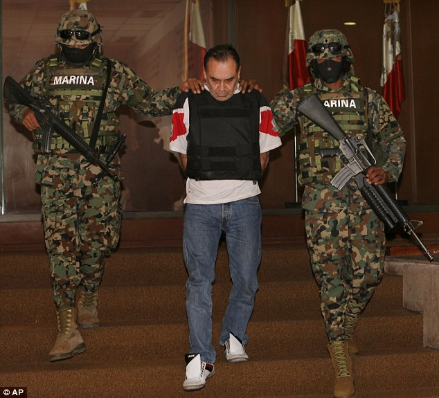 Mexican Gulf Cartel Gangster Manuel Alquisires Garcia Paraded With