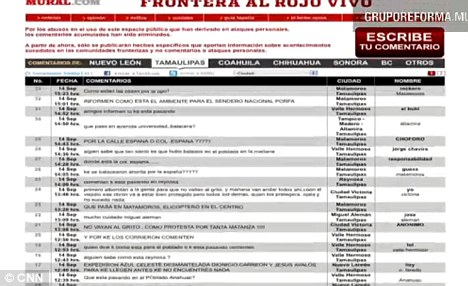 While Al Rojo Vivo (pictured) is a forum where bloggers can make anonymous tips about crime