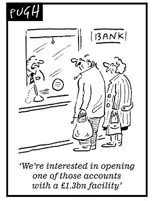 Pugh banking cartoon