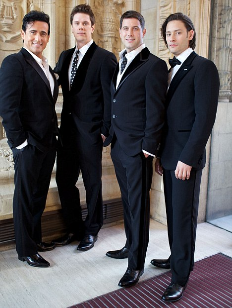 Worldwide appeal: Sébastien, second right, with his Il Divo bandmates