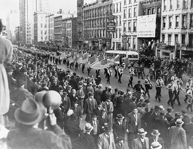 By the 1930s, America saw the disturbing sight of homegrown Nazi sympathisers marching down New York's Park Avenue to converge on a pro-Hitler rally in Madison Square Garden