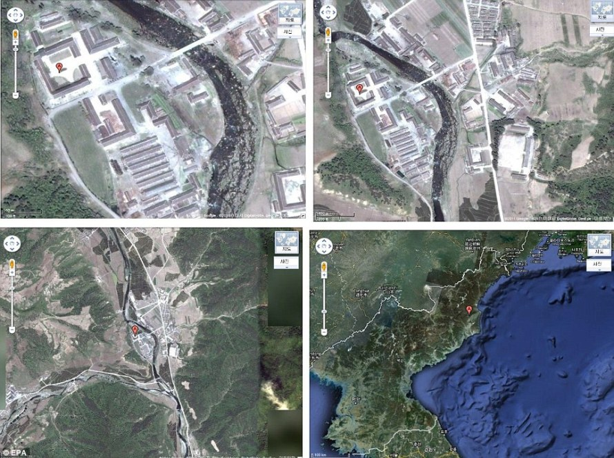 Closed off: Close to its border with China, the camp in Hwasong in North Hamkyong Province, has never been seen in so much detail