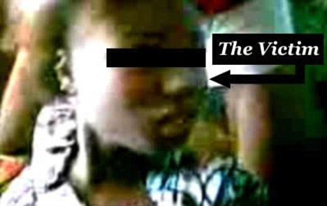 Victim: The gang rape of this woman in Nigeria was captured on video by the perpetrators who later posted it on the internet