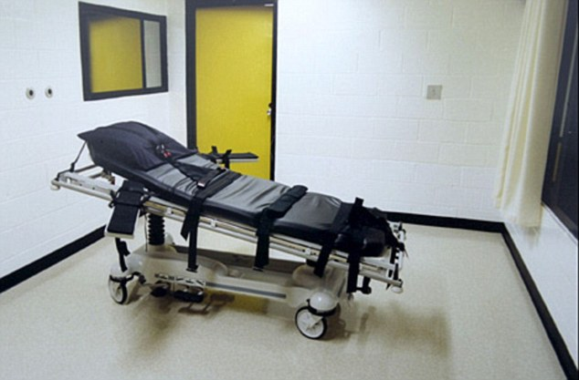 Death: The execution chamber at Jackson prison, Georgia, where Troy Davis was sedated and strapped to the gurney, while the U.S. Supreme Court took four hours to come to a decision