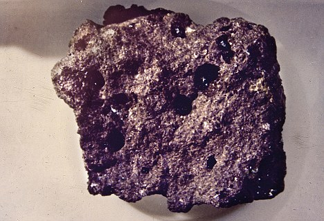 Precious: A sample of the moon rock brought back from the Apollo 17 mission that was given out to every state in America