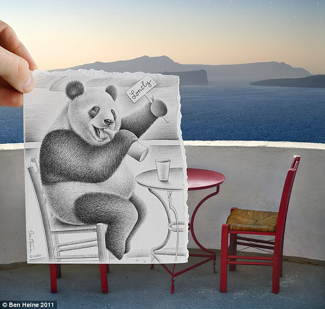 Table for one: One lonely panda, looking for companionship, seeks same... but is he really there?