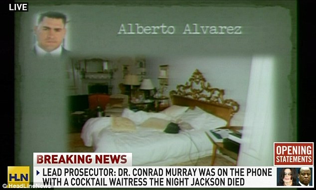 Resting place: The bed where the singer was found dead