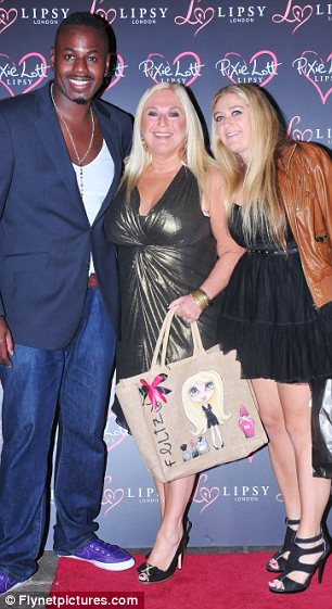 Random mix: Vanessa Feltz also attended the bash with her fiance Ben Ofoedu and her daughter while Aston of JLS fame also attended the bash
