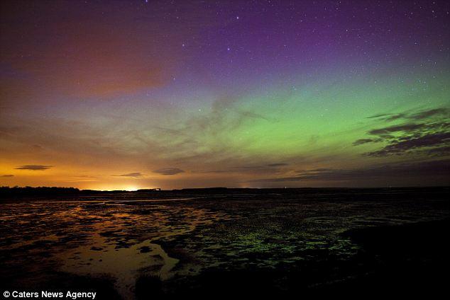 No es sombrío en el norte: Las llamaradas solares transforman el norte de Gran Bretaña cielos