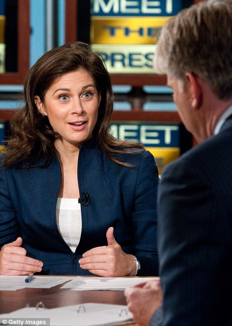 Prominent: Burnett has appeared on several business shows in the U.S, here she is seen discussing finance on Meet The Press
