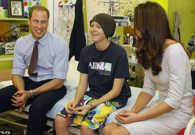 Duke of Cambridge Prince, President of The Royal Marsden NHS Foundation Trust, and the Duchess of Cambridge