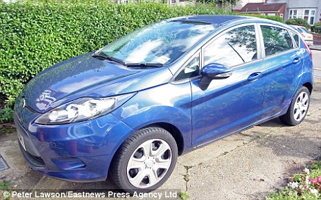 Low-velocity: Caroline Turner's Ford Fiesta, which she used for the 'chase'