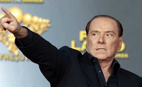 More controversy: Silvio Berlusconi, pictured last week, has suggested the 'Go Italy' party changes its name to 'Go Pussy'