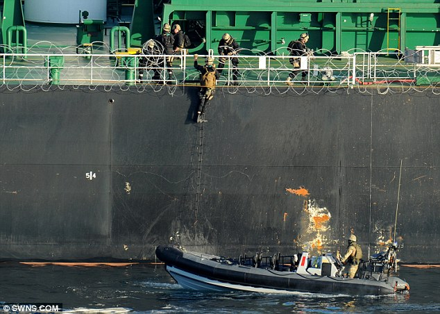 The 11 pirates who attacked the merchant vessel surrendered to the NATO boarding team with no resistance