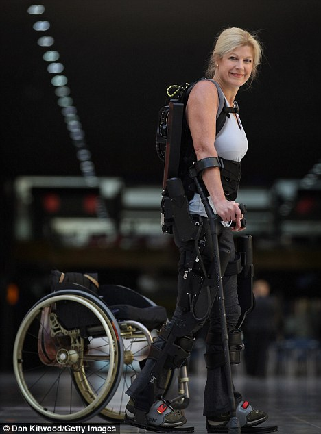 Leaving the wheelchair behind: Amanda Boxtel said using Ekso was a 'life-changing' experience