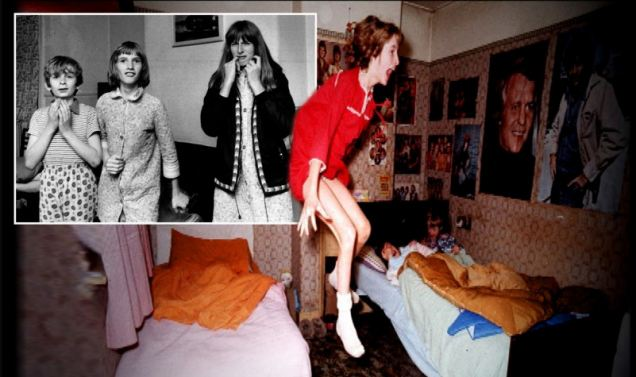 Janet Hodgson, aged 11 at the time, appeared to be possessed. It could have been a scene from the film The Exorcist - but it was real