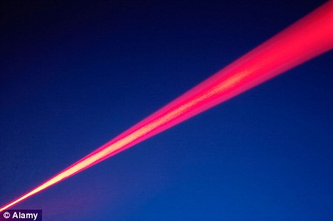 Powerful: The ultra-high field laser will be made up of 10 beams - each more powerful than the prototypes