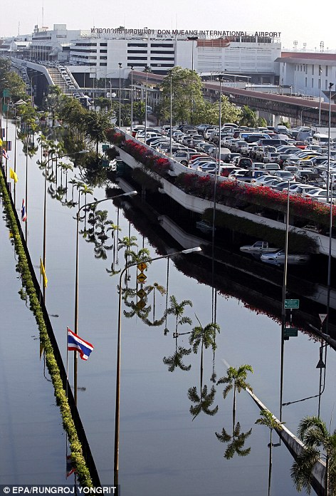 Bangkok's Don Mueang Airport has symbolised Thailand'sflood crisis, as its terminal also houses the country's recently-established emergency Flood Relief Operations Centre
