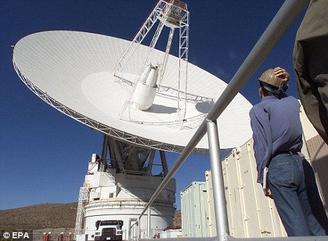 Giant: Antennas at the Goldstone radar centre in California¿s Mojave Desert will be focussed on the asteroid