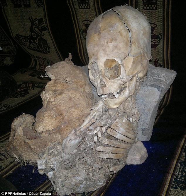 A criatura não identificada tem um crânio de forma estranha quase tão grande quanto o seu corpo de 20 polegadas de altura