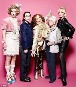 Still Fabulous: Jane Horrocks, 47, Julia Sawalha, 43, Jennifer Saunders, 53, June Whitfield, 86, and Joanna Lumley, 65, will reprise their roles in a festive comeback