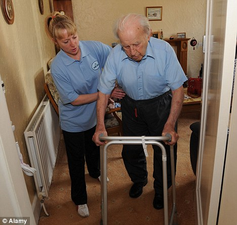 The report found that in some cases the treatment is so appalling that frail and vulnerable pensioners have been left ¿wanting to die¿. (Picture posed by models)