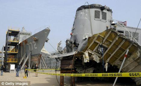 Wreckage: Washington was angered by Beijing's careless response to North Korea's sinking of the South Korean warship Cheonan
