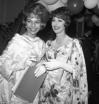 Judy Lewis dies  Clark Gable and Loretta Young s love child dies of     Showbiz life  In this May 1961 photo  actress Loretta Young  right  and