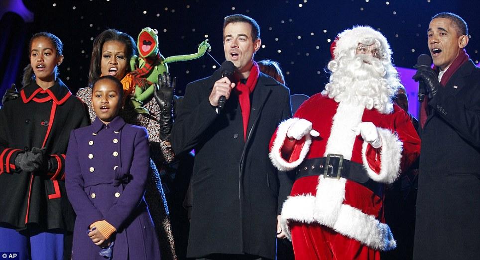 President Obama with Santa