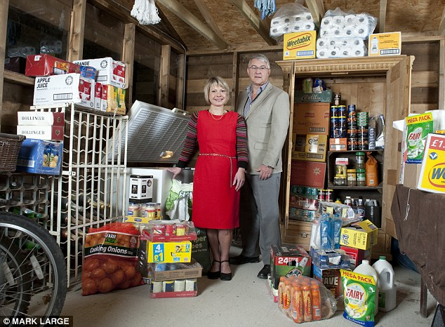 Siege mentality: George and Karen Shaw have enough food to last them a year
