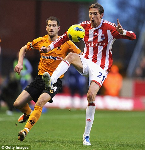 Recent move: Peter Crouch relocated from London to the north of the country following a transfer to Stoke City