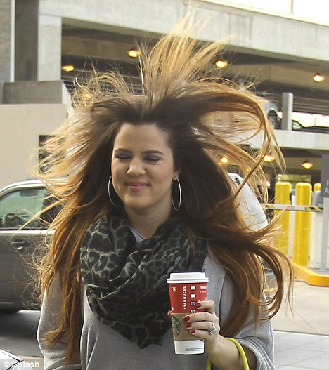 Khloe Kardashian Ends Up A Little Windswept As She Is