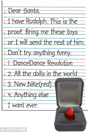 Dear Santa If You Bring Presents Bring Batteries Childrens Funniest Christmas Wish Lists