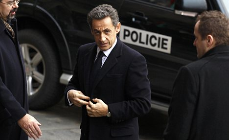 Official duties: An Elysee Palace source confirmed that Ms Bruni and her baby were in Marrakesh, but would not say if Mr Sarkozy, who was today in the Czech Republic for the funeral of Vaclav Havel, would join them