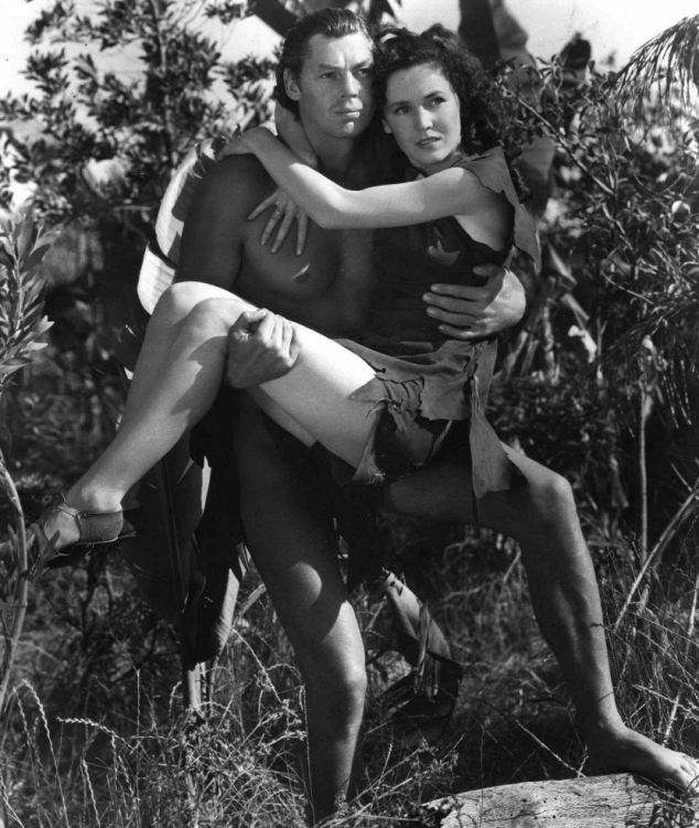 Outlived: Johnny Weissmuller as Tarzan and Maureen O'Sullivan is Jane in this scene from the classic 1936 movie Tarzan Escapes