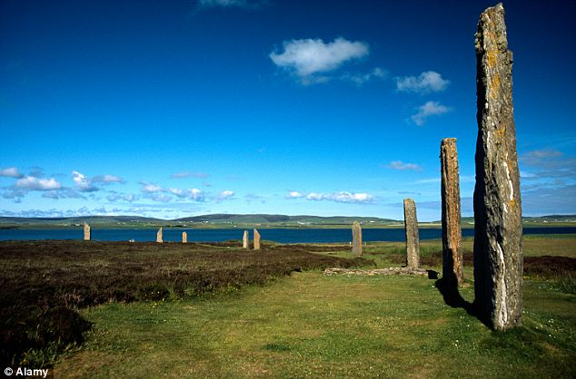 Golden oldie: The megalithic archaeological stone circle called The Ring of Brodgar is nearby