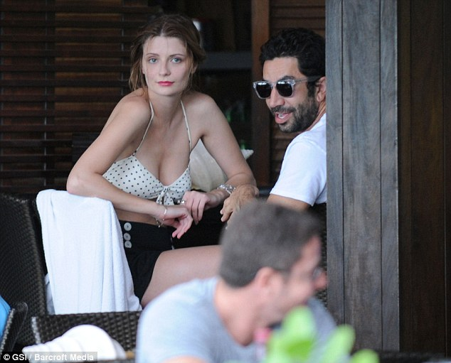 Chill time: The former O.C star looked relaxed and carefree as she whiled the afternoon away