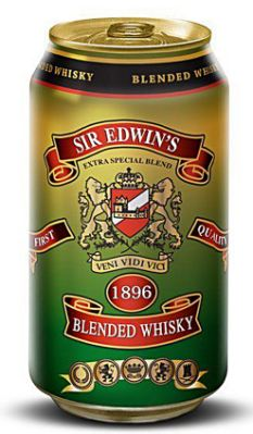 Potent: Each can will containabout eight shots of 80-proof scotch whisky
