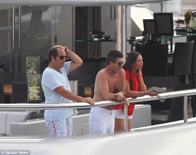 Simon Cowell Enjoys The Fruits Of His Labours Onboard