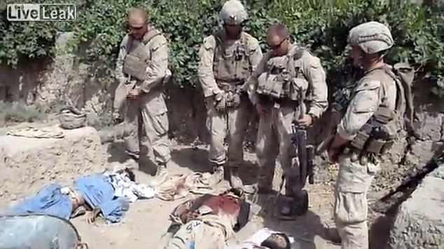 US soldiers pee on dead Taliban soldiers