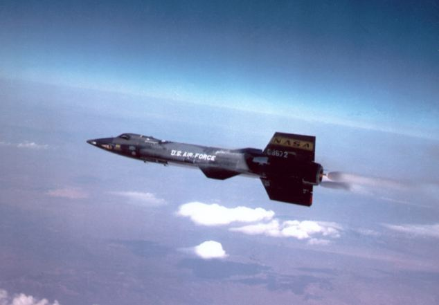 Borrowed parts: The X-15 still holds the air speed record of 4,519mph, set in 1967. Stakes has the X-15's engine and hopes it will propel his land vehicle to glory