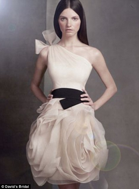 Flirty flange: The creation uses a technique called 'flange' in which organza is layered to create structure as well as feminine curves