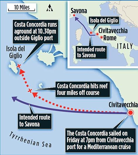 Costa Concordia carte