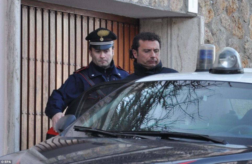 Schettino is taken into custody in Grosseto, Italy