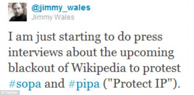 Announcement: Wales wrote on Twitter yesterday that the popular community-based online encyclopedia will shut down its English versions for 24 hours in protest