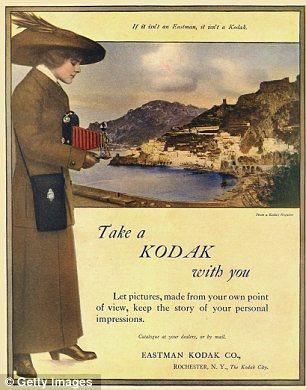 Buenos viejos tiempos: Un anuncio de 1913 para cámara Kodak de rollo de película plegable