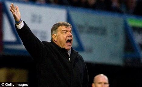 On alert: West Ham boss Sam Allardyce is an admirer of Davies